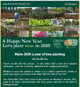 Green Mile Trees mailing list